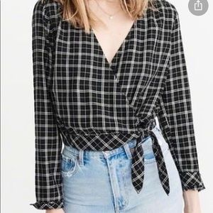 Abercrombie & Fitch Checker Blouse
